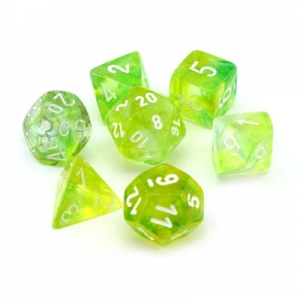 Dice set: Nebula spring/wit