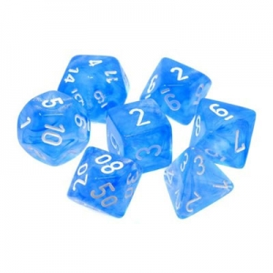 Dice set: Borealis blauw/wit