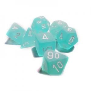 Dice set: frosted teal